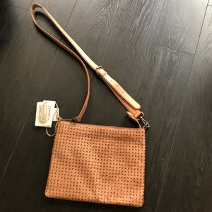 NWT Genuine Leather Studded Crossbody Bag